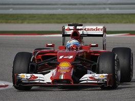 Fernando Alonso ve Velk� cen� USA formule 1.