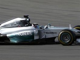 Lewis Hamilton na trati Velk� ceny USA formule 1.