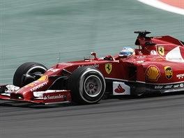 Fernando Alonso na trati Velké ceny Brazílie formule 1