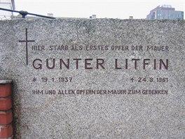 Památník Günteru Litfinovi, prvního zastřeleného