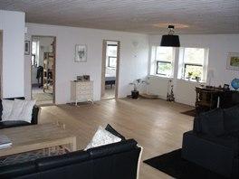 Obývací pokoj má 60 metrů čtverečních.