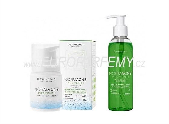 Dermedic NORMACNE Preventi Set - Matující krém 55 g + Antibakteriální čistící...