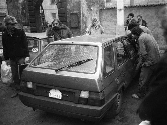 Prototyp Škody Forman v Praze na Malé straně na podzim 1987