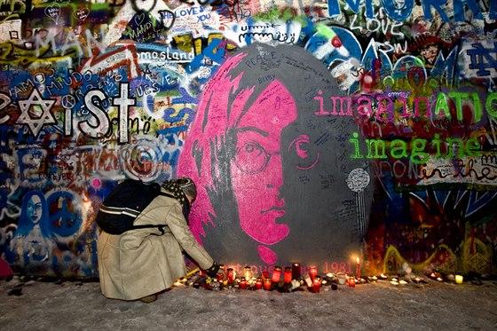 Lennonova zeď v Praze na snímku z roku 2010
