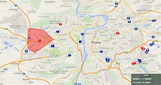 Havárie vody postihla na 34 tisíc Pražanů v západní části města.