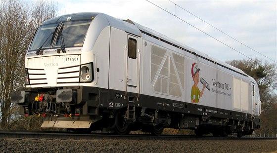 Lokomotiva Siemens Vectron dosahuje až dvousetkilometrové rychlosti