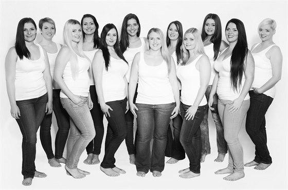 Ženy plných tvarů v kalendáři Zdravý holky