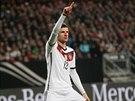 Thomas Müller slaví gól v utkání s Gibraltarem.