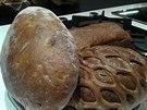 Různé druhy chleba na ukázku