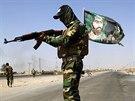 Bojovník šíitské milice Badrova brigáda u Amirlí (5. září 2014).