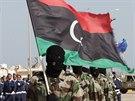 Přehlídka libyjské armády v Tripolisu (12. listopadu 2014).