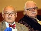 Richard Salzmann a Milan Kn��k na semin��i Institutu v�clava Klause o listopadu 1989.