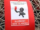 Také v Brně přišli lidé prezidentovi Milošovi Zemanovi vystavit červenou kartu.