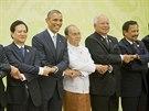 Americký prezident Barack Obama ve čtvrtek přicestoval na východoasijský summit ASEAN v Barmě (13. listopadu)