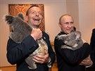 Úsměv na tváři ruského prezidenta tak vyloudila jen roztomilá koala (15. listopadu)