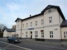 Nádraží Brno-Chrlice, které vyhrálo anketu o nejhezčí vlakovou stanici v Česku (11. listopadu 2014)