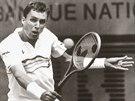 Tenista Ivan Lendl při pařížském Roland Garros (1987)