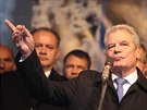 Německý prezident Joachim Gauck na Albertově (17. listopadu 2014).