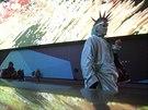 Na newyorském Times Square se v úterý večer rozsvítil největší reklamní panel na světě (19. listopadu 2014).