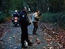 Policisté, hasiči i lovci nedaleko Paříže pátrají po tygrovi (13. listopadu 2014)