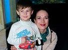 Tereza Kostkov� se synem Ton�kem