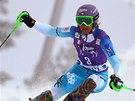 Šárka Strachová ve slalomu v Levi.