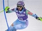 Tina Mazeová ve slalomu v Levi.