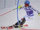 Marie Pietiläová-Holmnerová ve slalomu v Levi.