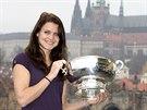 Lucie Šafářová s Fed Cupem.