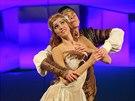 Moravsk� divadlo v Olomouci uvedlo slavnou Dvo��kovu operu Rusalka, ov�em v baletn�m proveden� (sn�mek ze zkou�ky).