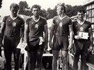 Olomoucká čtyřka v roce 1983 na mistrovství světa v Duisburgu.
