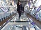Procházka po skleněné plošině na londýnském mostě Tower Bridge není nic pro ty, kdo trpí závratí.
