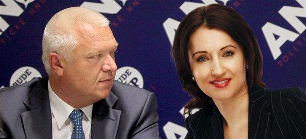 �éf poslanc� ANO Jaroslav Faltýnek a jeho partnerka Lenka Linhartová.
