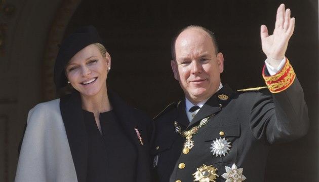 Monacký kní�e Albert II. a jeho man�elka Charlene (Monte Carlo, 19. listopadu...