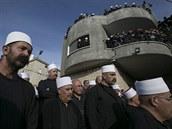 Pohřeb drúzského policisty, který zahynul při útoku na jeruzalémskou mešitu (19. listopadu 2014)