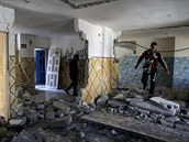 Domy Palestinců, kteří útočili v jeruzalénské synagoze, nechala izraelská vláda strhnout (19. listopadu 2014)