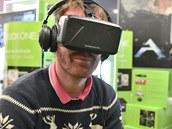 P�edv�d�c� akce technologie Oculus Rift