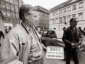 Libor Ševčík (vlevo) se stal šéfredaktorem Mladé fronty 20. listopadu 1989
