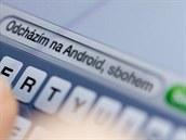 SMS na iPhone - ilustra�ní snímek