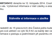 Podvodný e-mail, který zneužívají útočníci k zavirování počítače oběti.