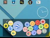 Miniaplikace Bubble Cloud Widgets zobrazuje instalované aplikace, kontakty či záložky ve formě bublin