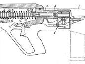 Průřez útočné pušky Steyr ACR