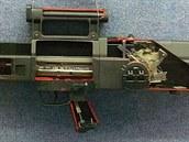 Průřez puškou Heckler & Koch G11
