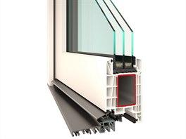 Plastové dveře VEKRA Komfort EVO – základní profil