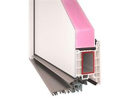 Plastové dveře VEKRA Komfort EVO s překryvnou hliníkovou výplní