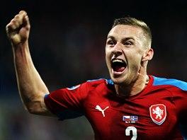 JÁSOT. Pavel Kadeřábek slaví gól proti Islandu.