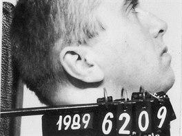 Stanislav Pitaš na snímku z královéhradecké věznice v roce 1989.