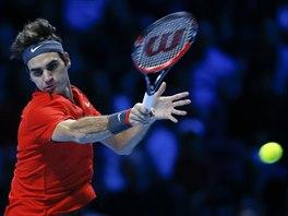 Roger Federer hraje v semifinále Turnaje mistrů proti Wawrinkovi.