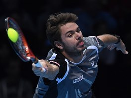 STIHNU TO. Stanislas Wawrinka hraje v semifinále Turnaje mistrů proti Federerovi