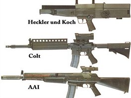 Zbraně testované v rámci programu ACR